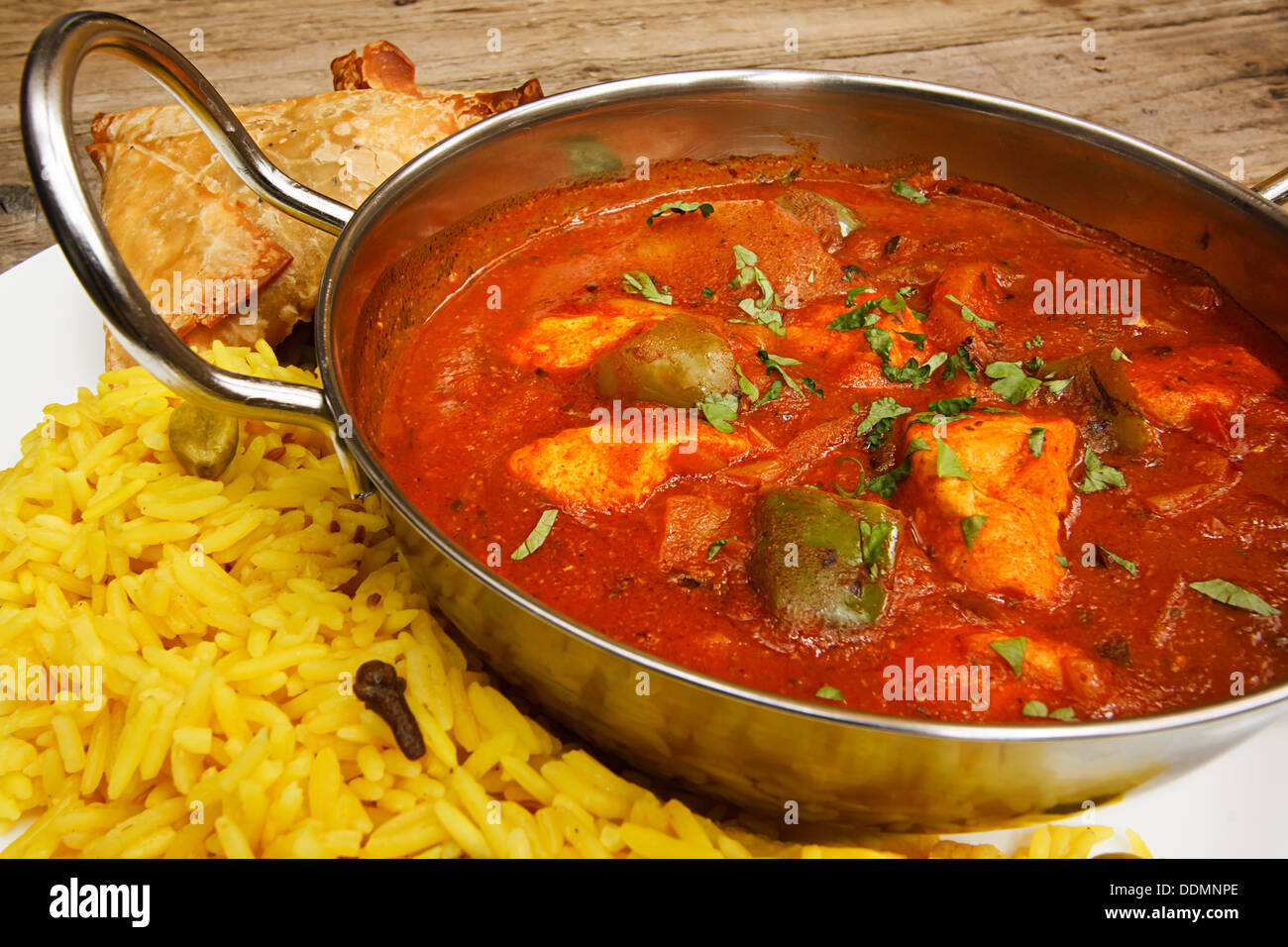 Chicken jalfrezi a popular indian curry available at eastern restaurants - Stock Image