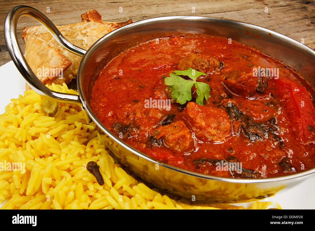 Beef rogan josh an indian dish with tomato and spices a popular curry - Stock Image