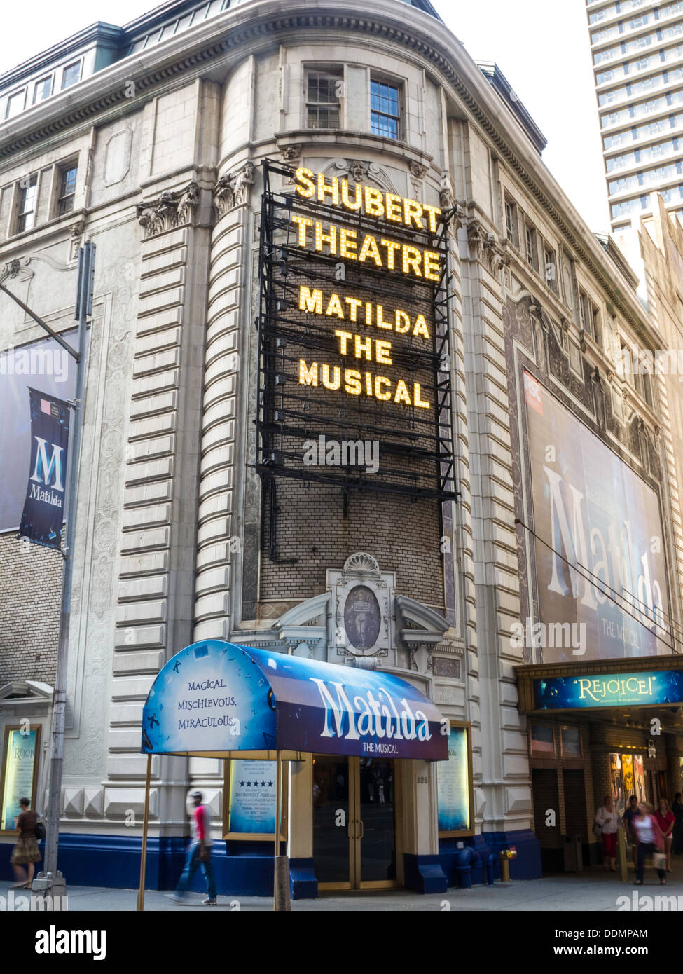 """Shubert Theatre Marquee, """"Matilda The Musical"""", Times"""