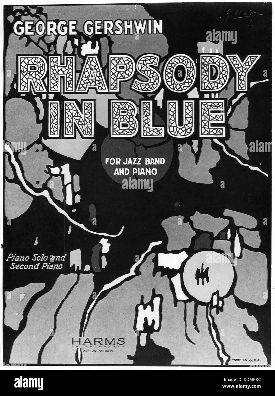 Rhapsody in Blue by George Gershwin, 1924. - Stock Image