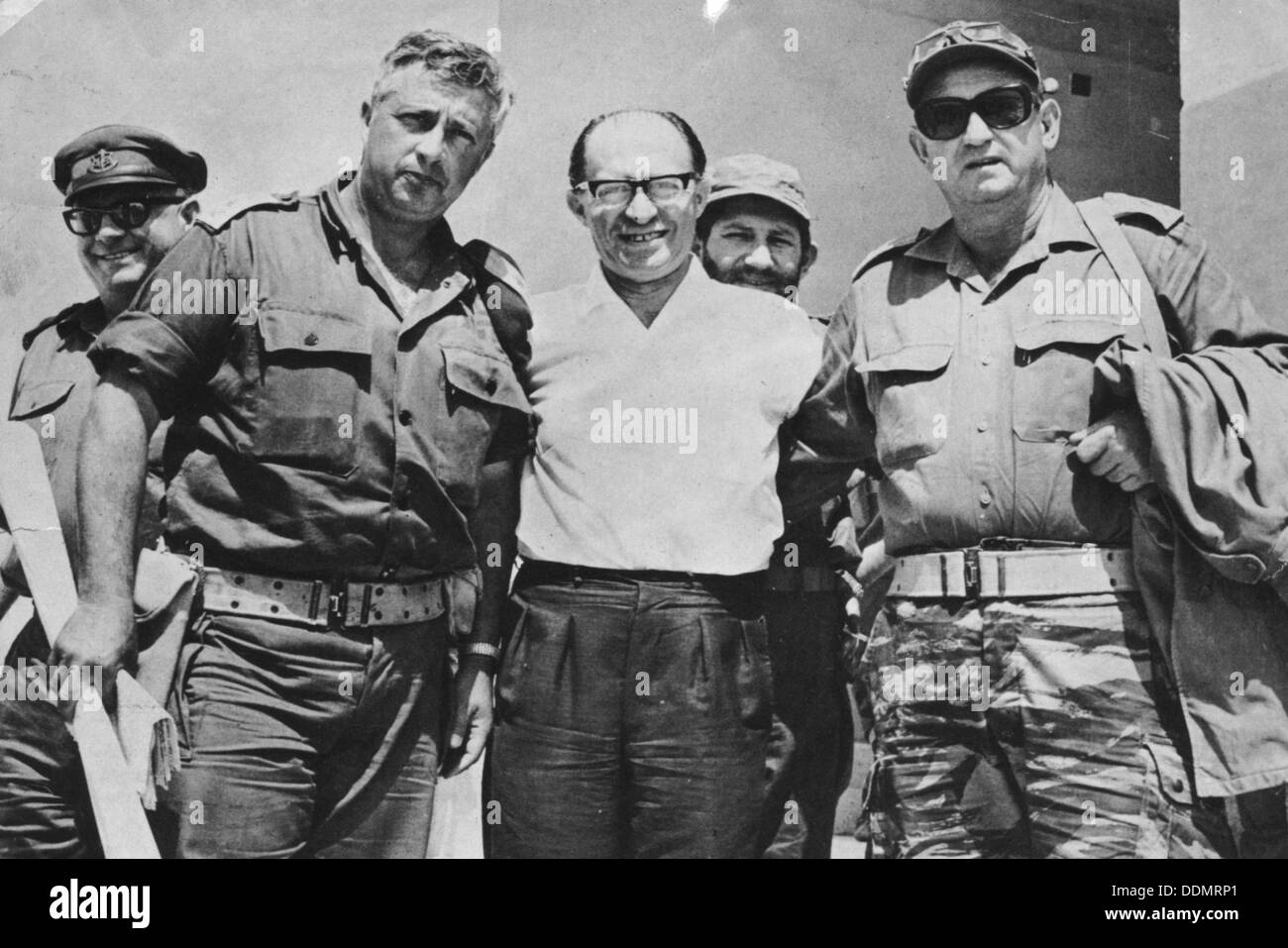 Menachem Begin (1913-1992), 6th Prime Minister of Israel, during the Six Day War, 1967. Stock Photo