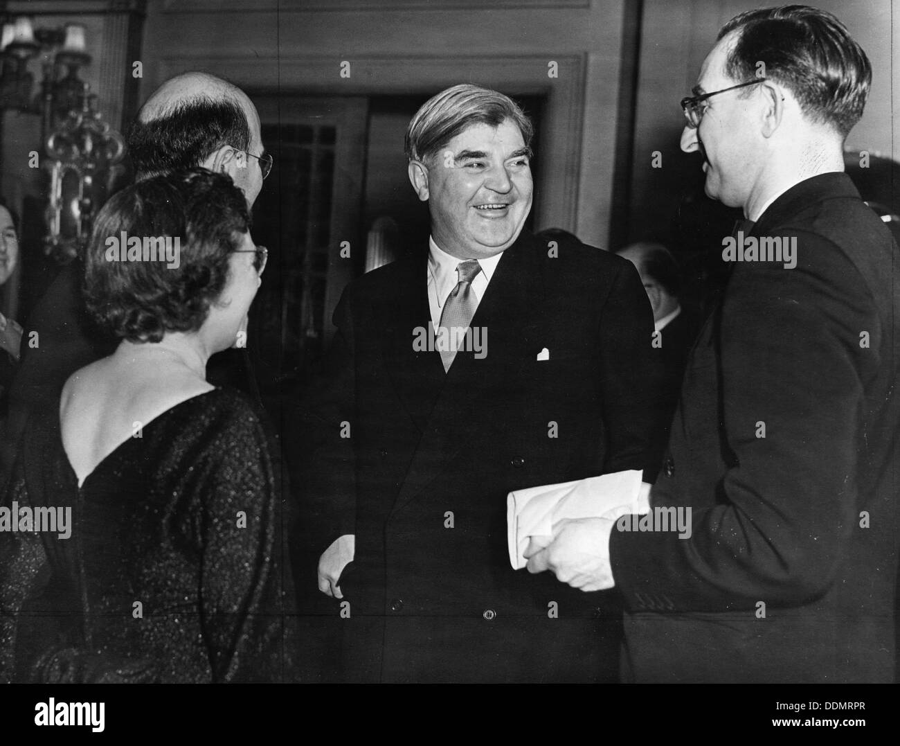 Aneurin Bevan (1897-1960), Welsh politician who introduced the NHS in Britain. - Stock Image