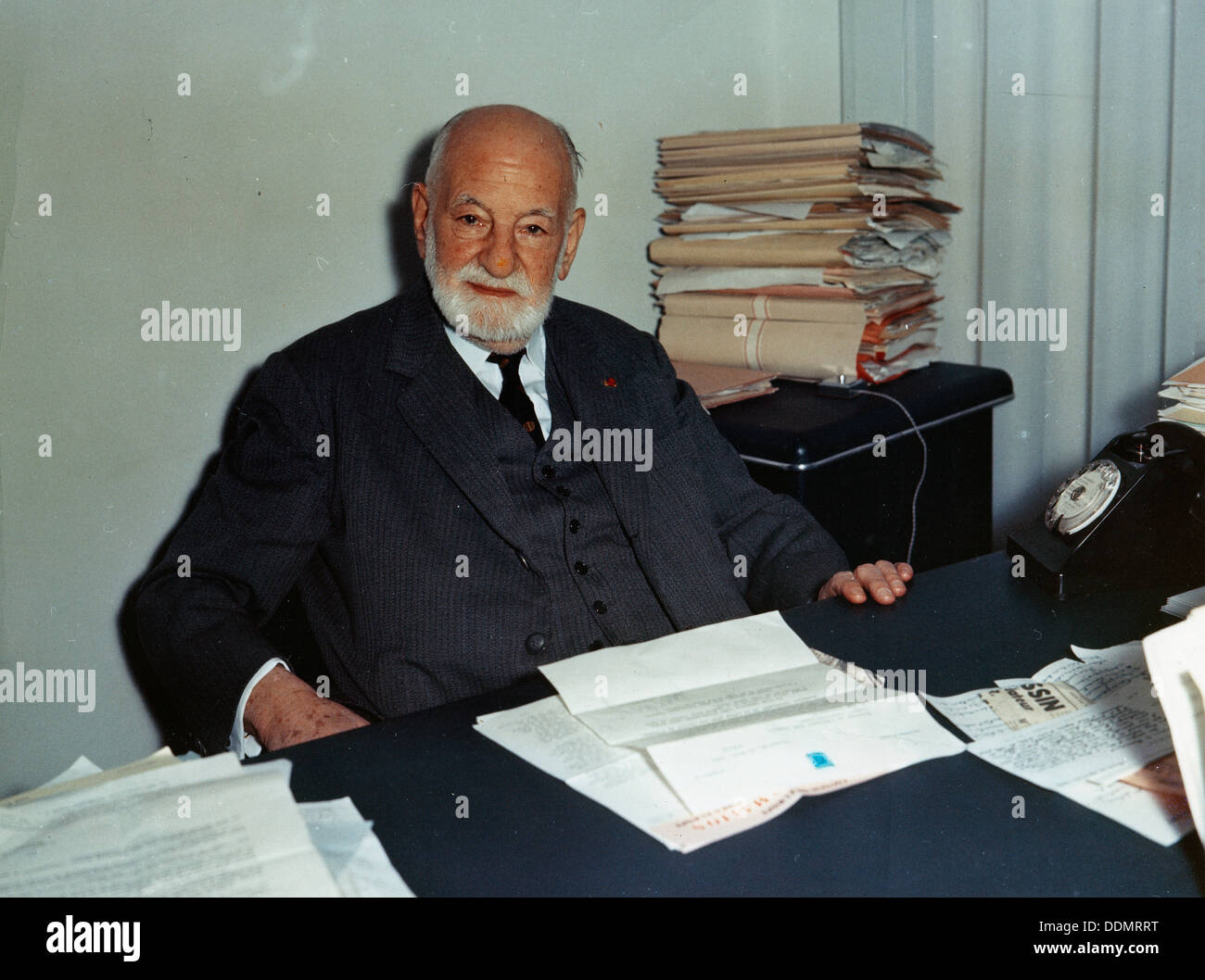 Rene Cassin (1887-1976), President of the European Court of Human Rights. - Stock Image