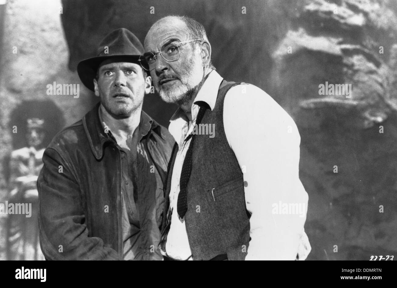 Sean Connery (1930- ) and Harrison Ford (1942- ), Film actors, 1989. - Stock Image