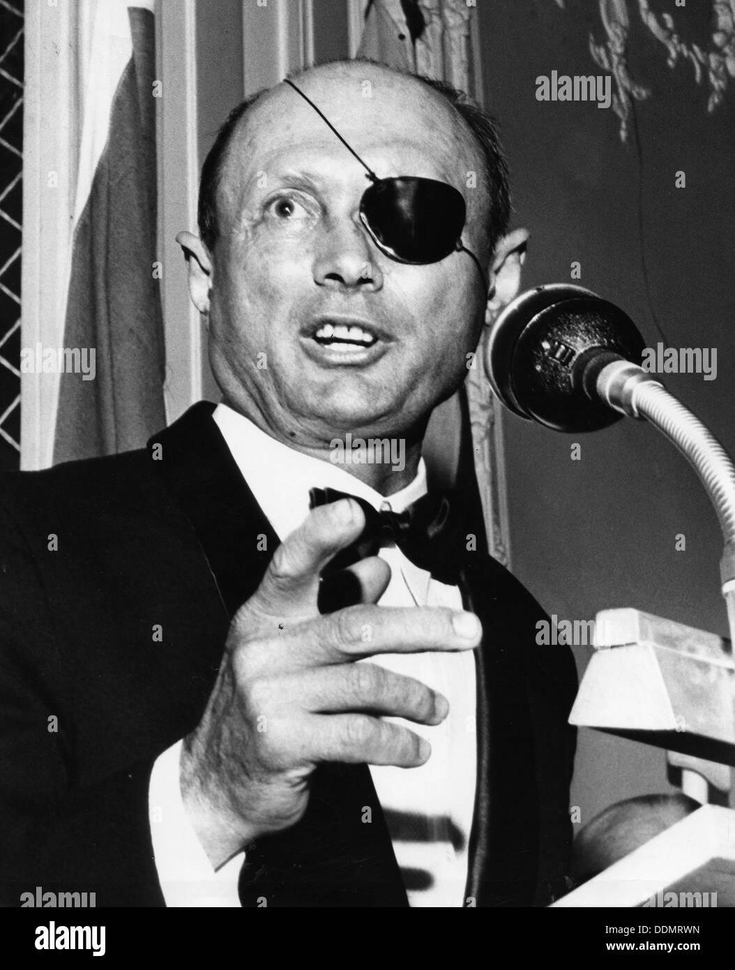 Moshe Dayan (1915-1981), Israeli General and politician, 1969. - Stock Image