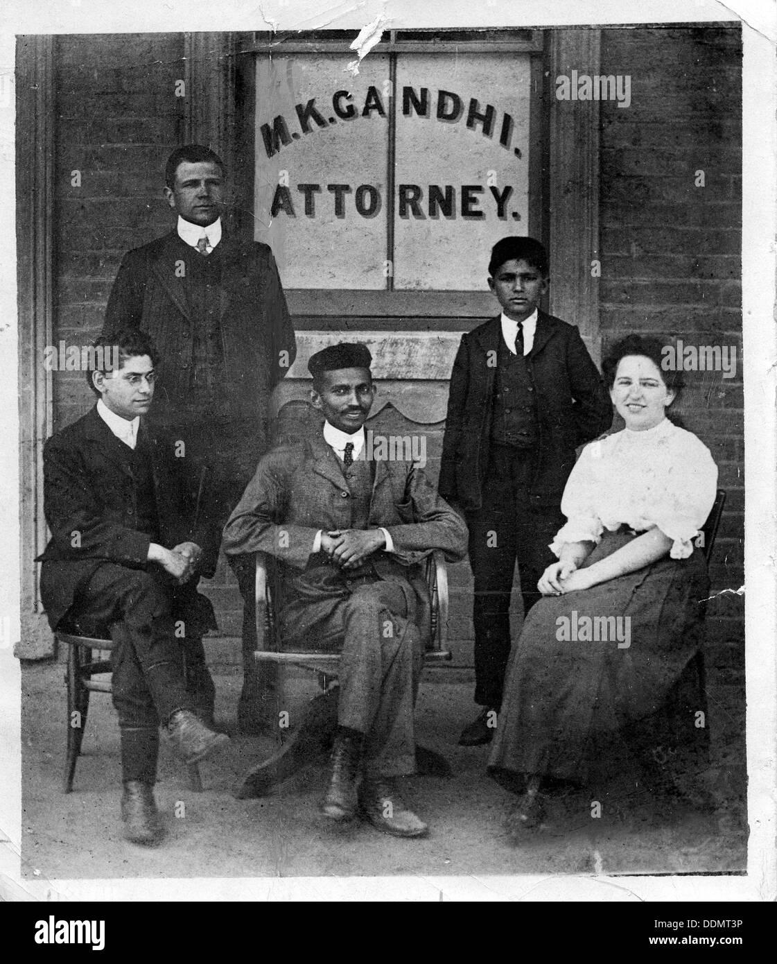 Mahatma Gandhi (1869-1948), c1900. - Stock Image