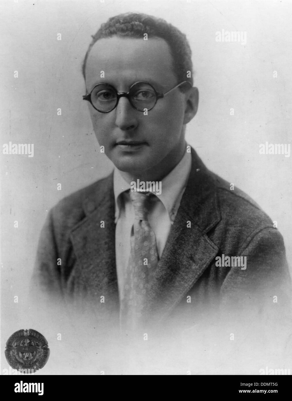 Jerome Kern (1885-1945), American composer. - Stock Image