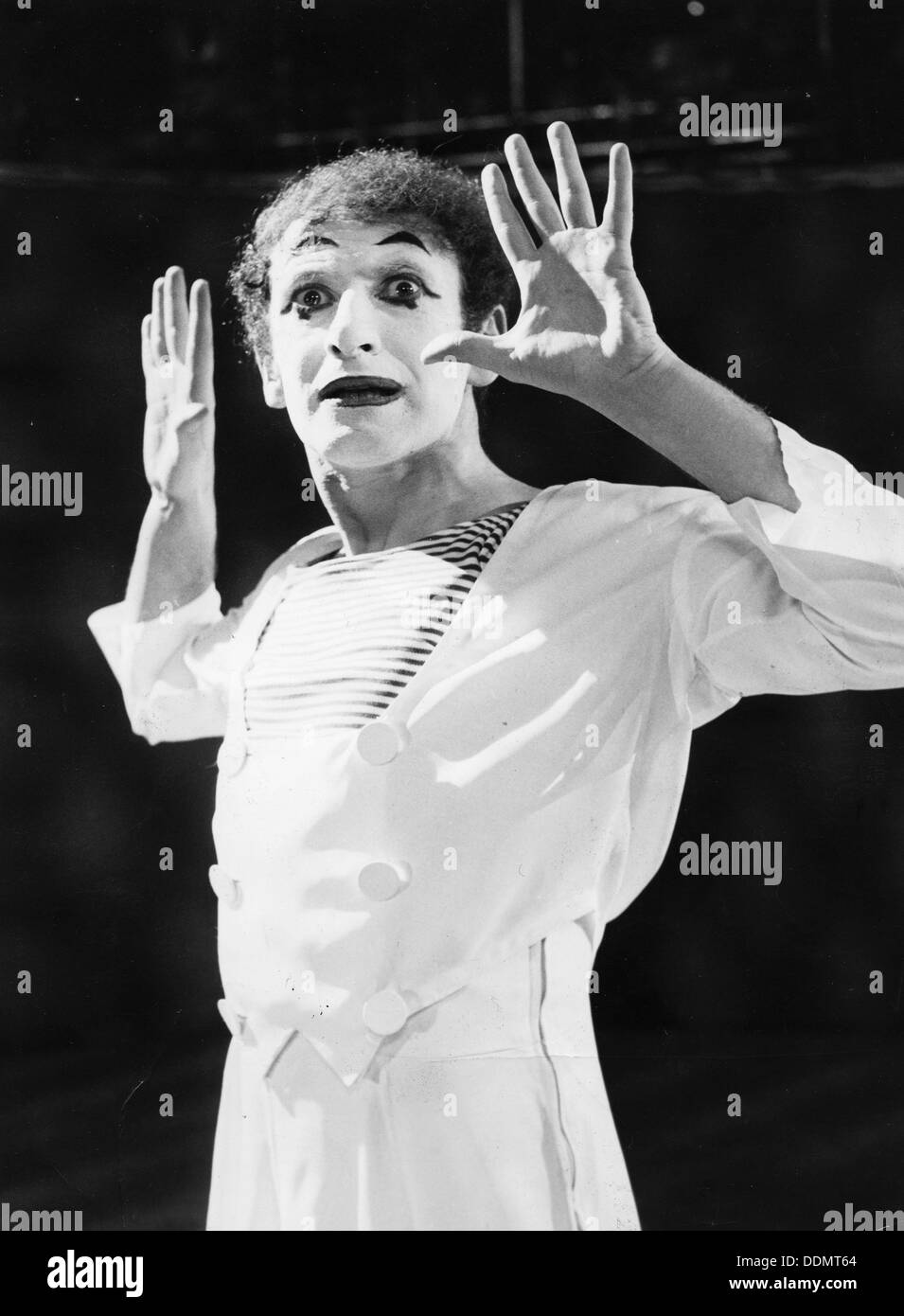 Marcel Marceau (1923-1999), French mime artist, 1967. - Stock Image