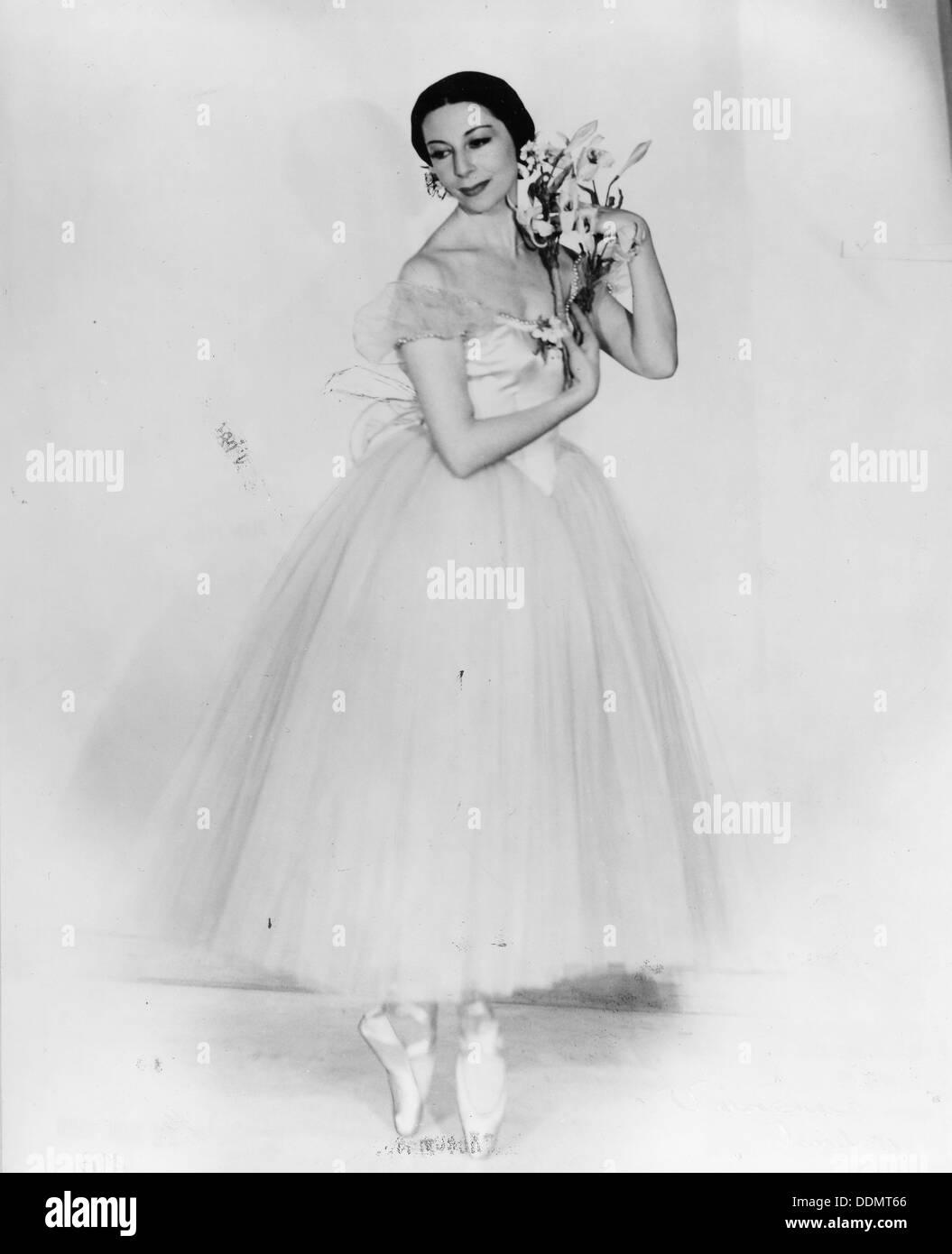 Alicia Markova (1910- ), Britsh ballet dancer. - Stock Image