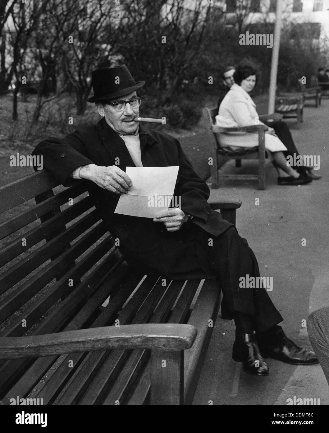 Groucho Marx (1890-1977), American comedian, 1965. Stock Photo