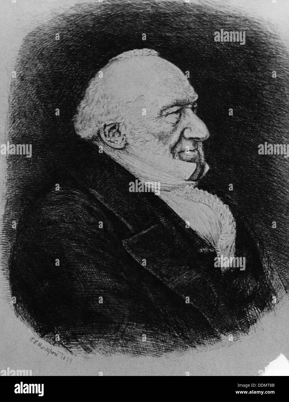 Sir Moses Montefiore (1784-1885), Jewish banker and philanthropist. - Stock Image