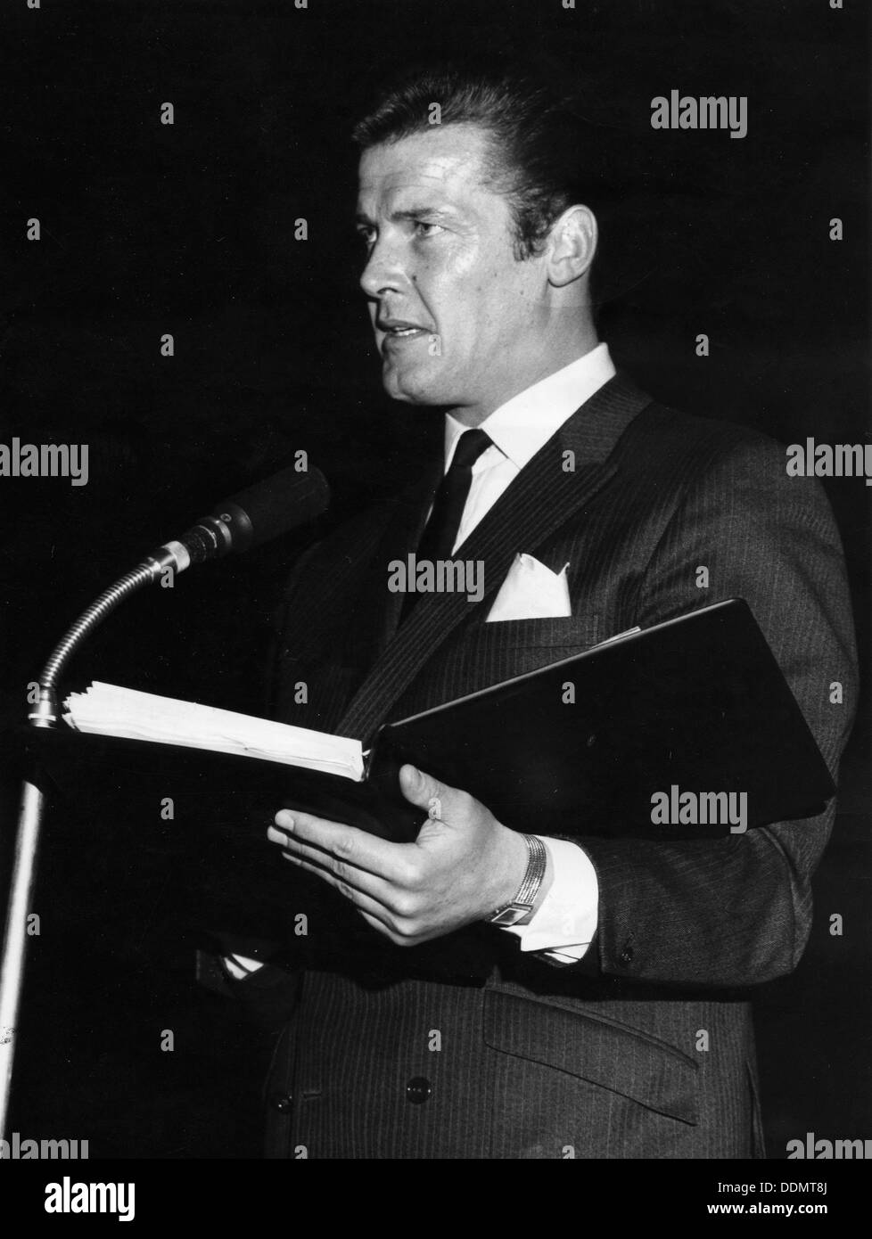 Roger Moore (1927- ), British actor, 1968. - Stock Image