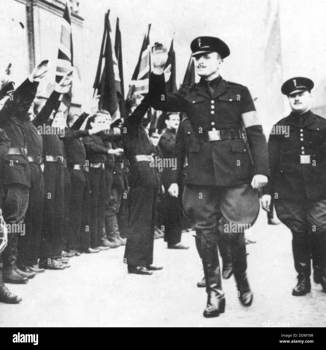Sir Oswald Mosley on the day of the 'Battle of Cable Street', 5th October 1936. - Stock Image