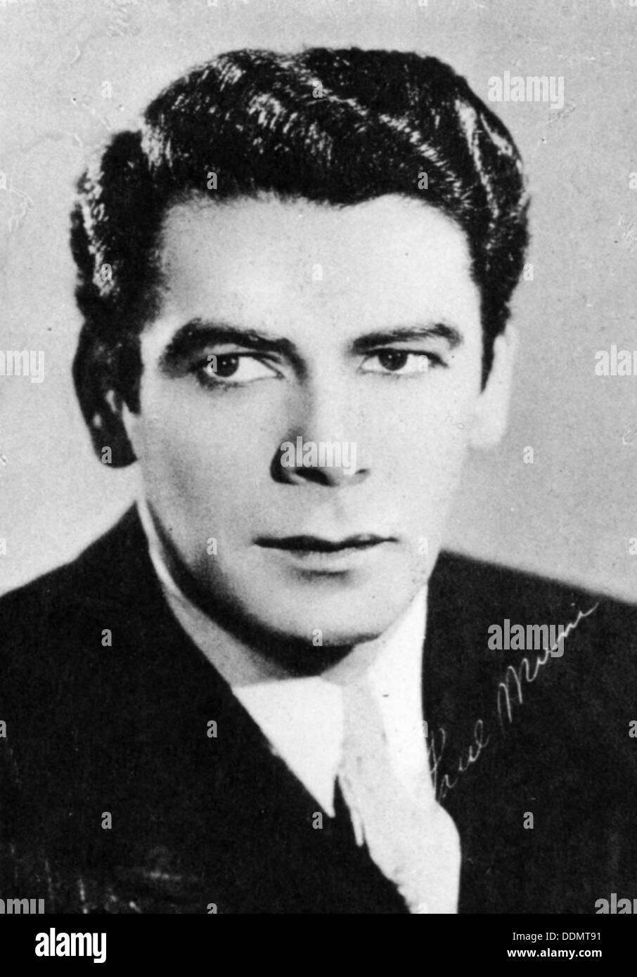 Paul Muni (1895-1967), American actor. - Stock Image