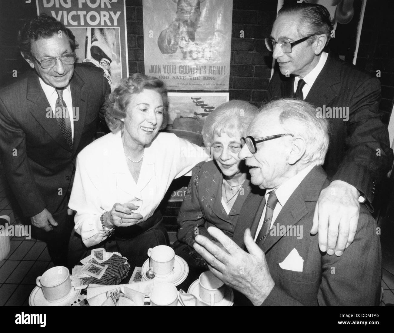 Vera Lynn (1917- ), British Singer, 1990. Stock Photo