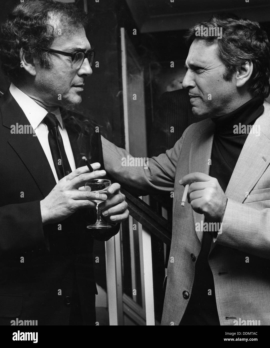 Harold Pinter (1930- ), British playwright. Artist: Sidney Harris Stock Photo