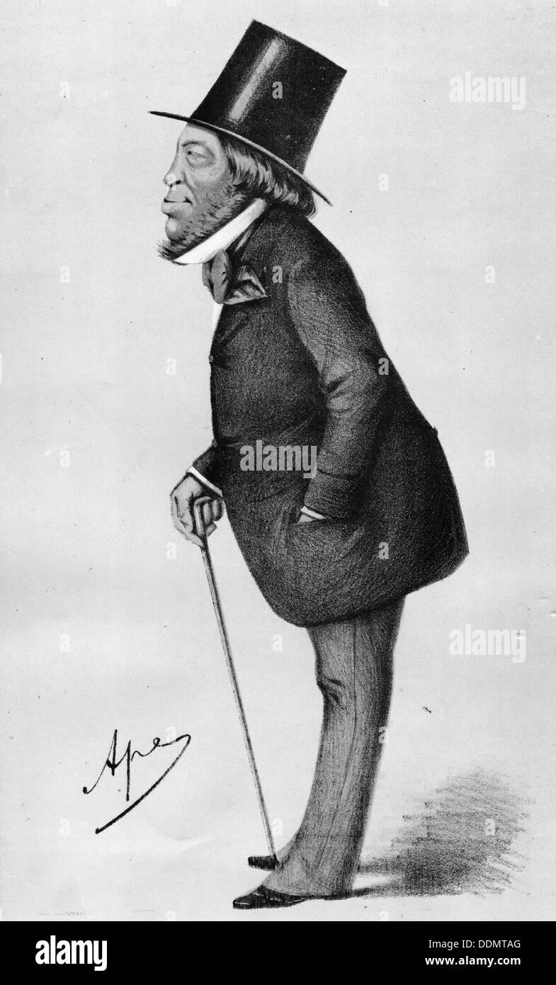 Baron Mayer Amschel de Rothschild (1773-1855), German banker. Artist: Unknown Stock Photo