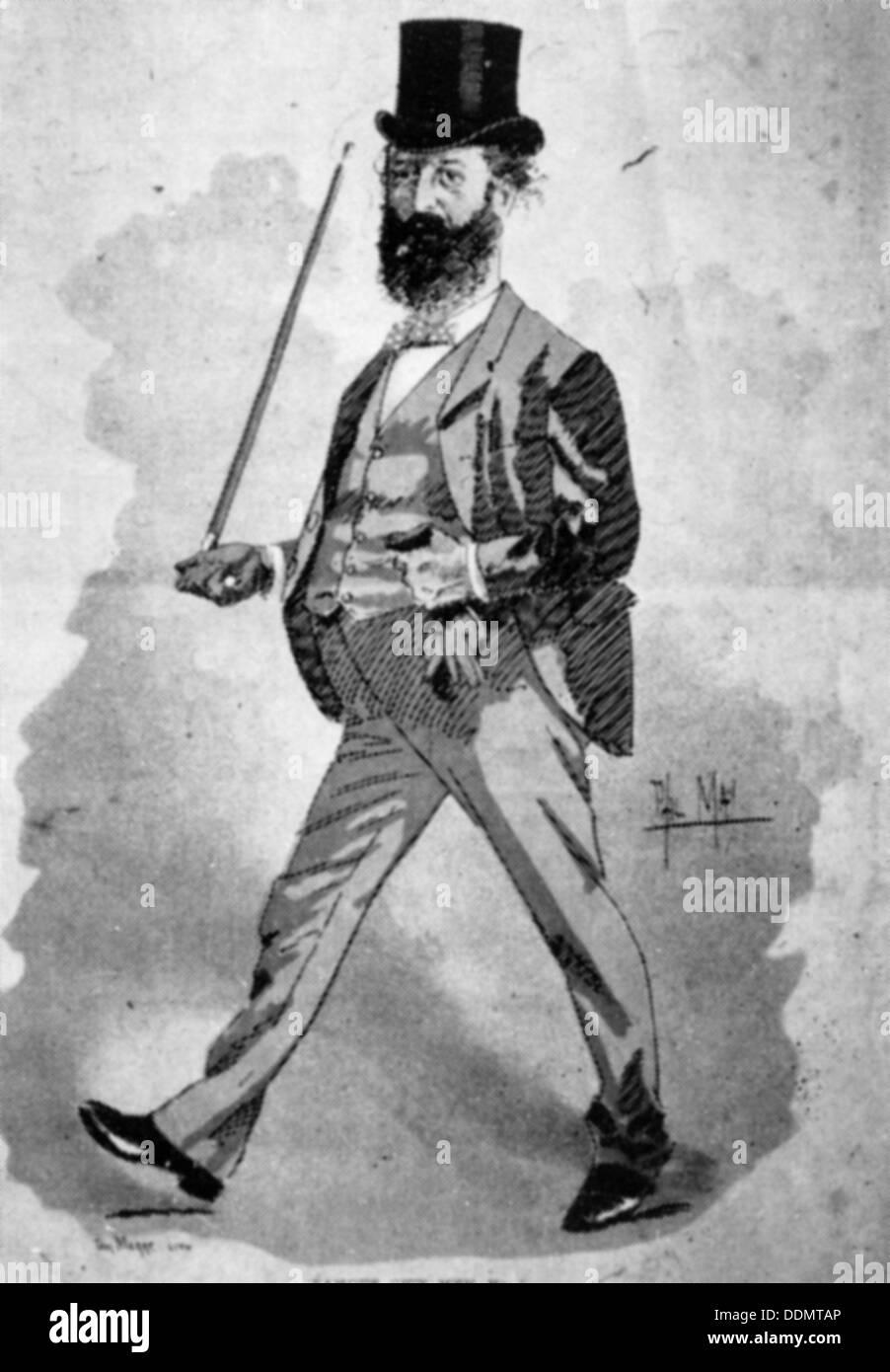Lionel Nathan de Rothschild (1777-1836), German banker. - Stock Image