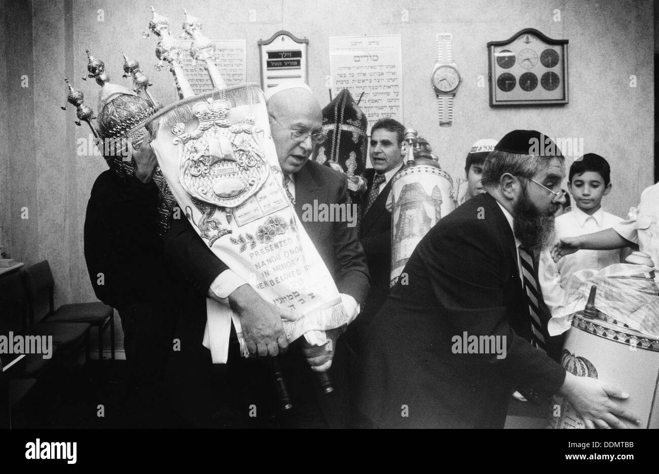 Torah Procession, 1995. Artist: John Nathan - Stock Image