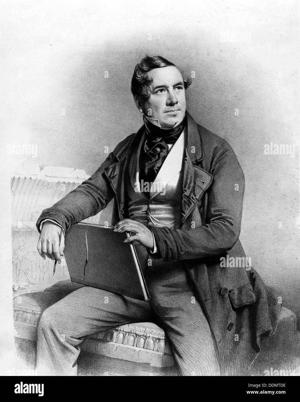 David Roberts (1796-1864), British artist, self-portrait. - Stock Image