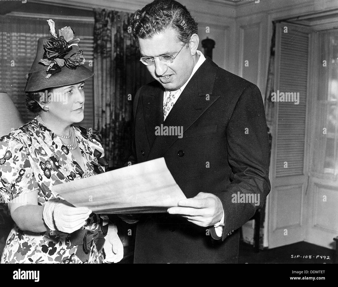 David O Selznick (1902-65), American producer and director. - Stock Image