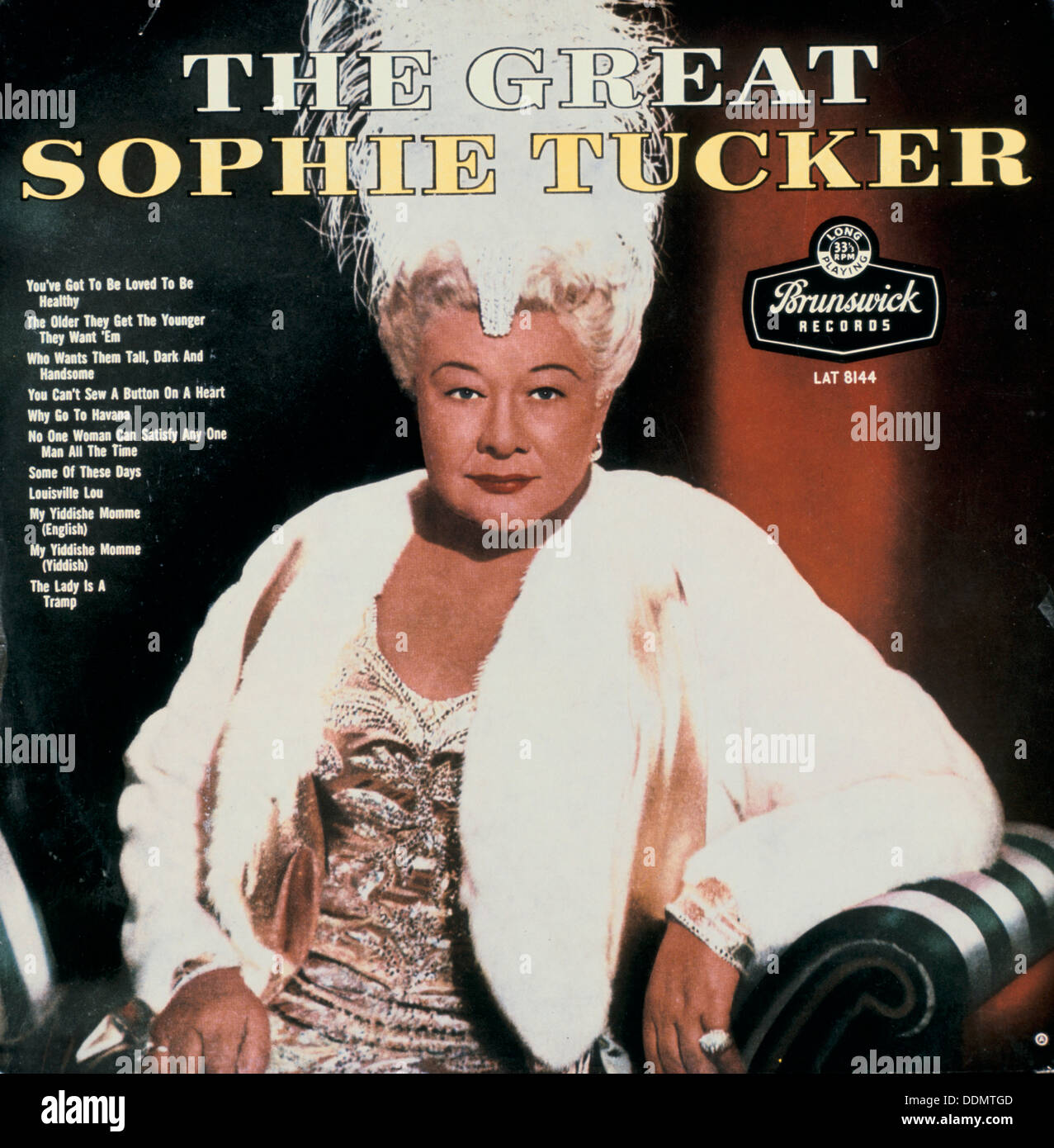 'The Great Sophie Tucker', (1884-1966), American Jewish entertainer. - Stock Image