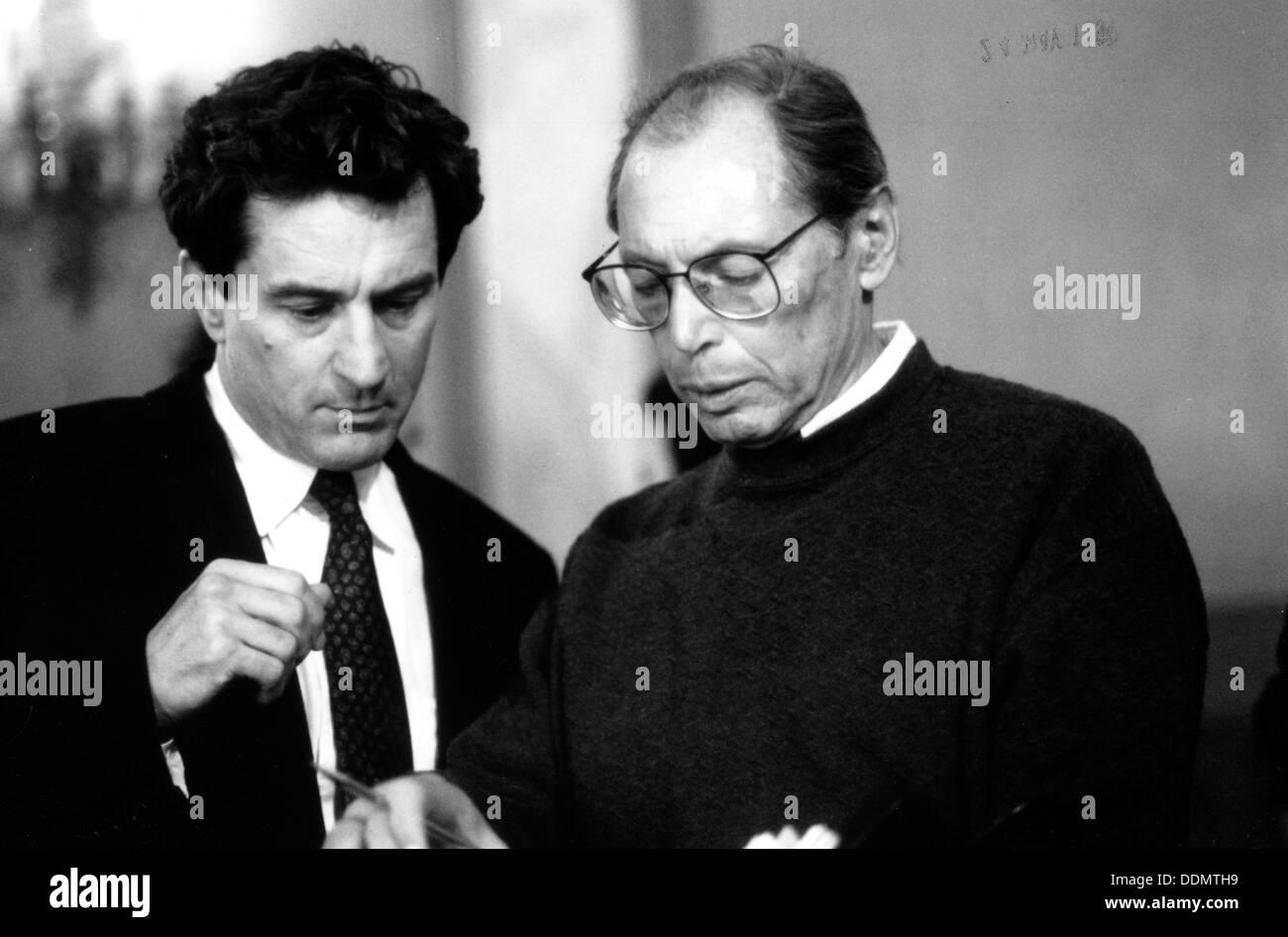 Irvin Winkler (1931- ) Film maker with Robert De Niro (1943- ), 1991. - Stock Image