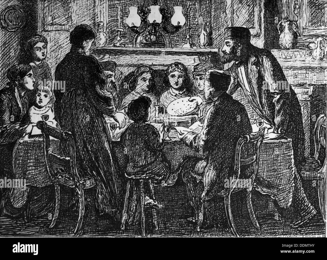 Seder meal, Passover, mid-late 19th century. Artist: Simeon Solomon - Stock Image