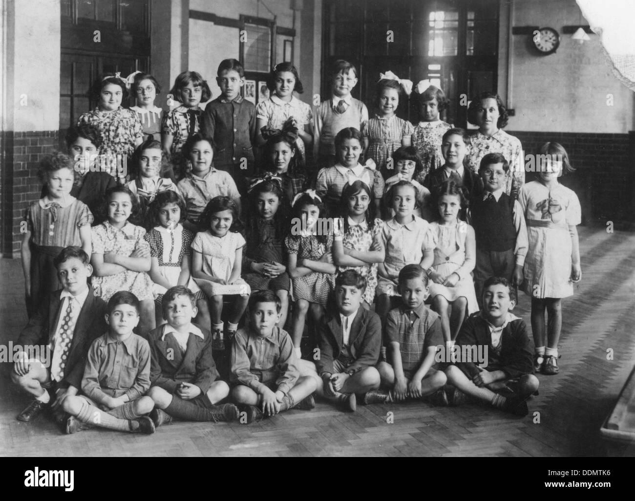 Jewish primary school children, 1939. - Stock Image