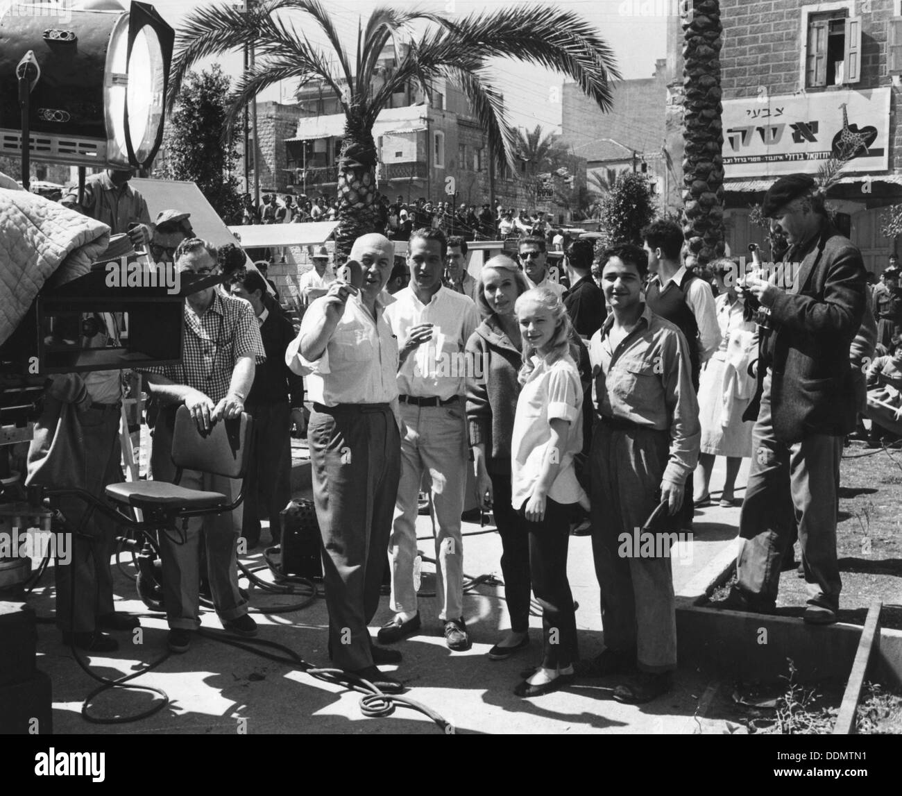 Scene during the filming of Exodus, 29 April 1960. - Stock Image