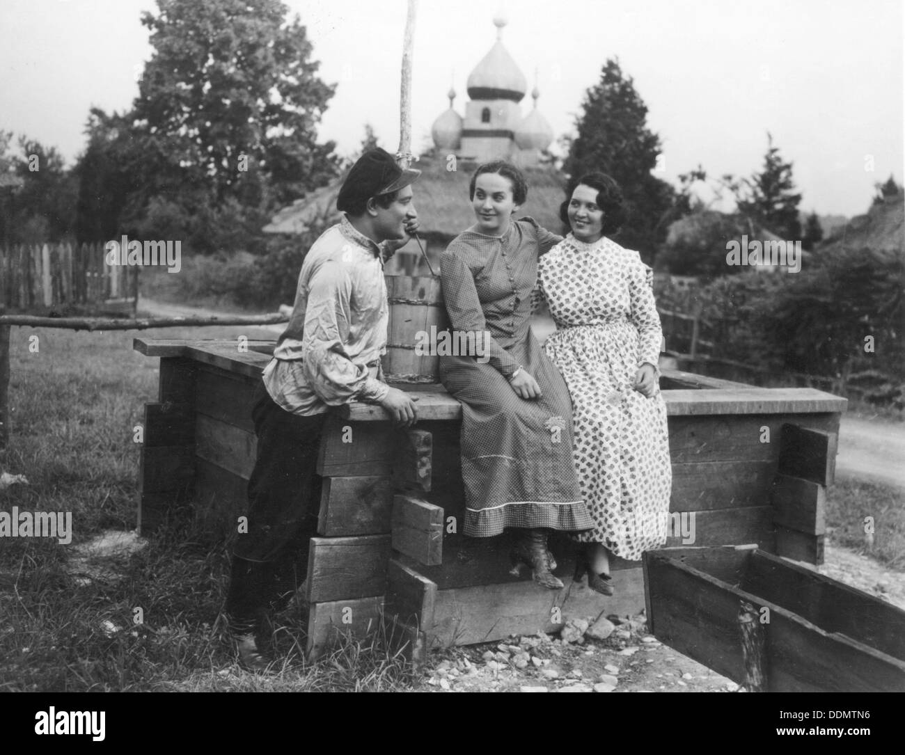 Scene from The Singing Blacksmith, 1936. - Stock Image