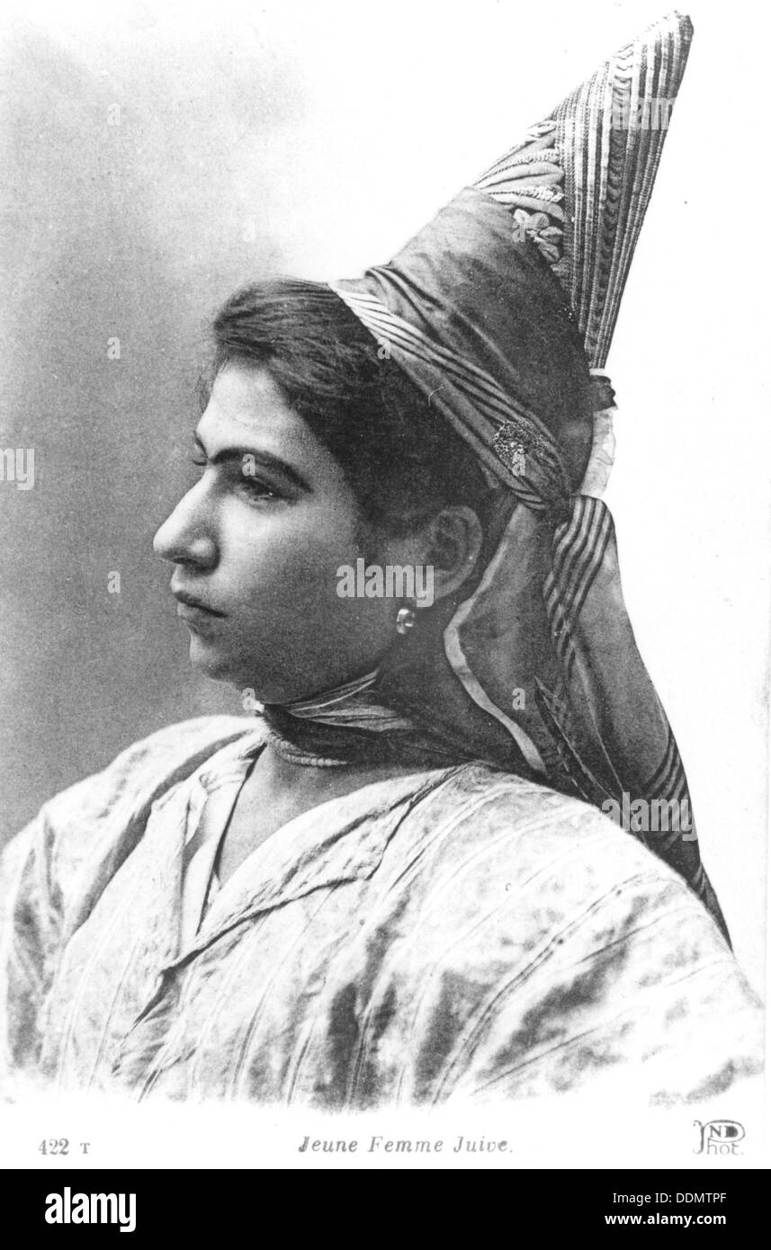 Young Jewish woman, North Africa, c1930. Stock Photo