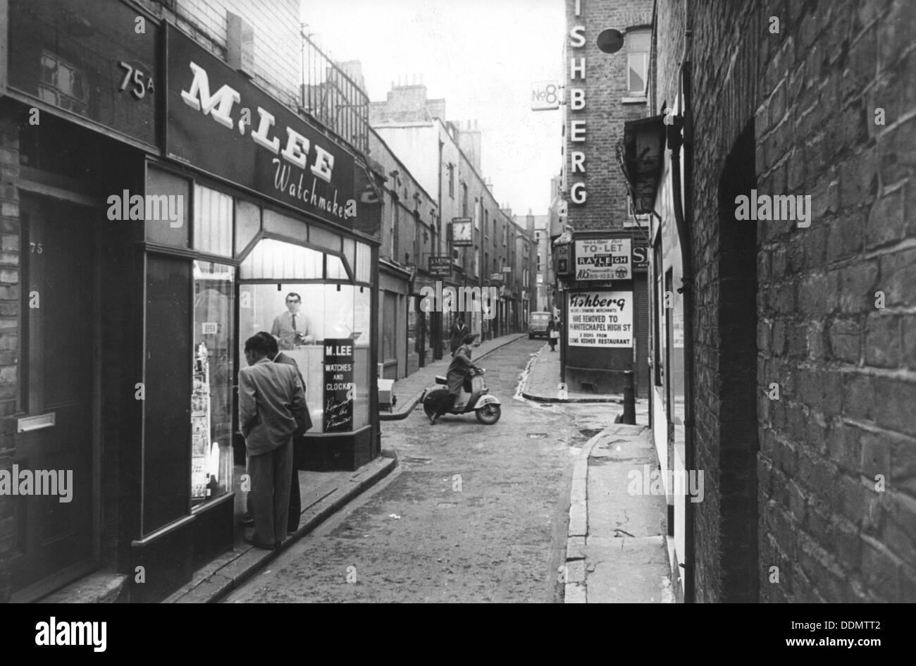 Jewish businesses threatened with closure, Stepney, London, 1967. - Stock Image