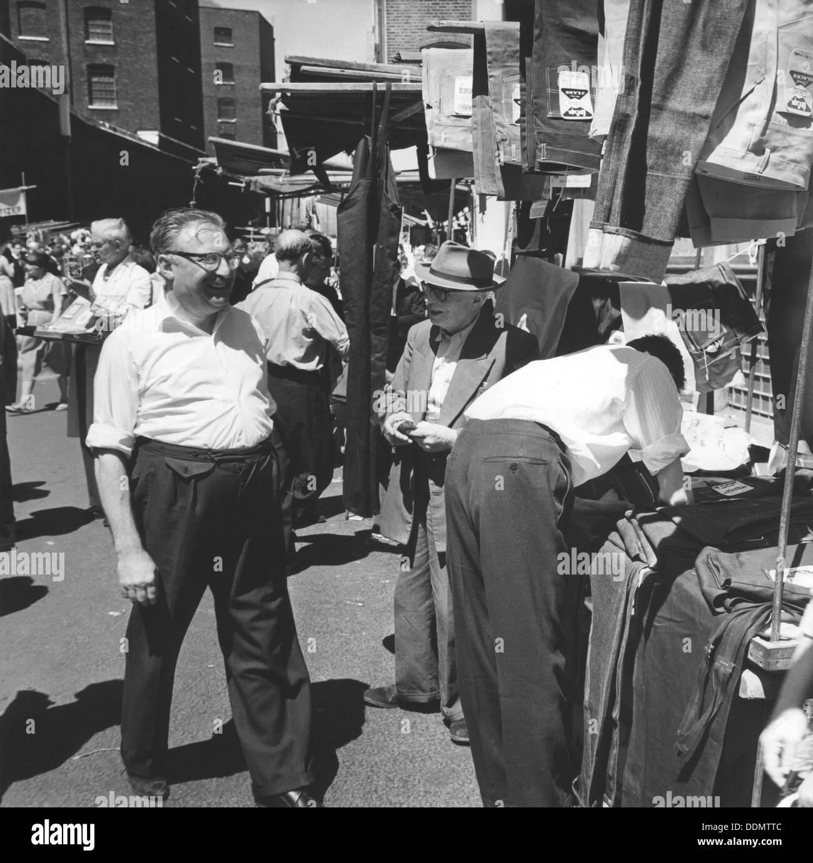 Petticoat Lane market, London, 1964. Artist: EH Emanuel - Stock Image