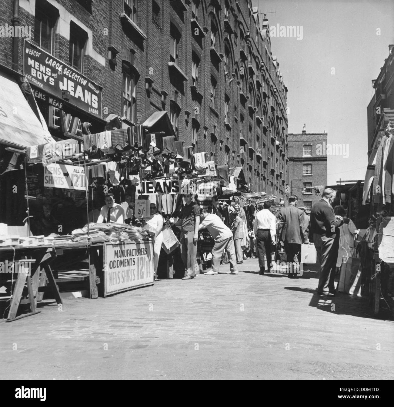 Petticoat Lane market, London, c1964. Artist: EH Emanuel Stock Photo