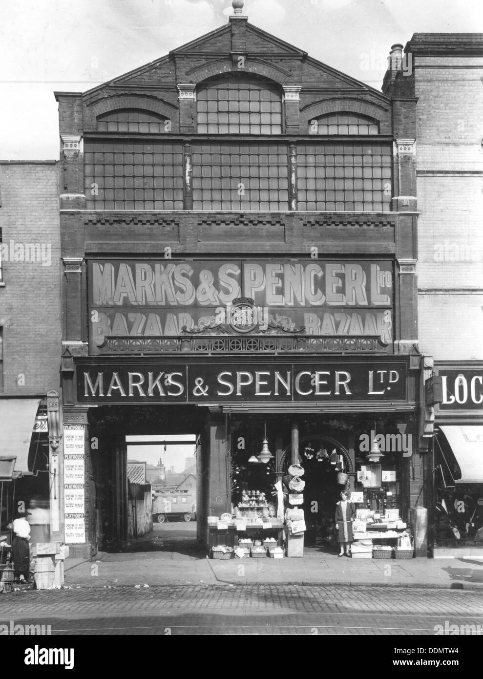 Marks & Spencer Ltd, Stratford, London, 1910. - Stock Image