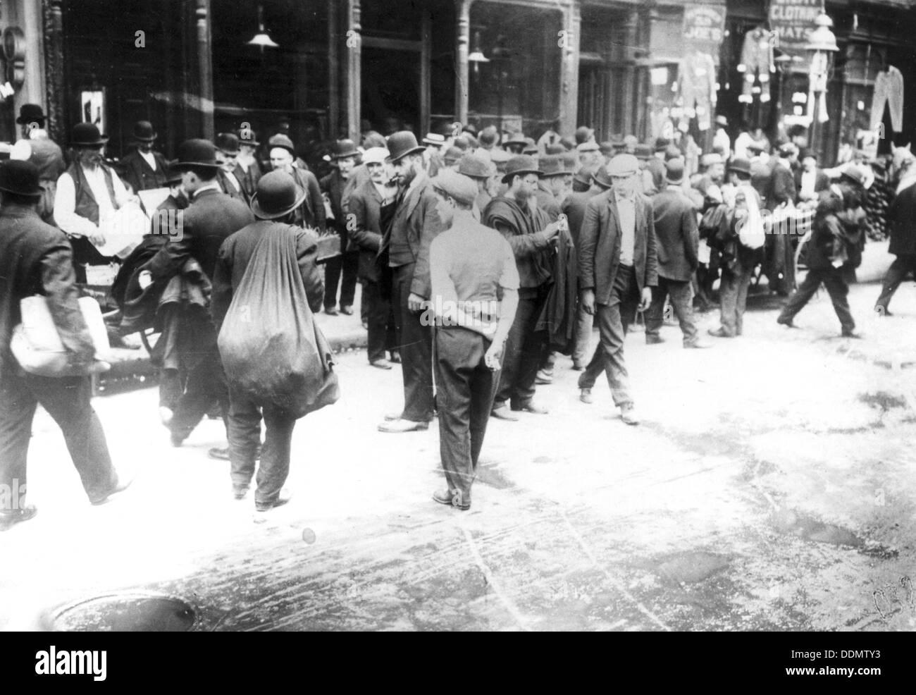 Jewish pedlars on the East Side, New York, USA, 1890s. - Stock Image