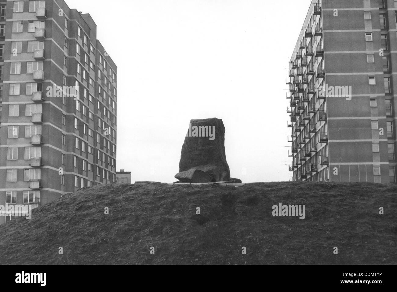 Mila 18 monument, Warsaw, Poland. - Stock Image