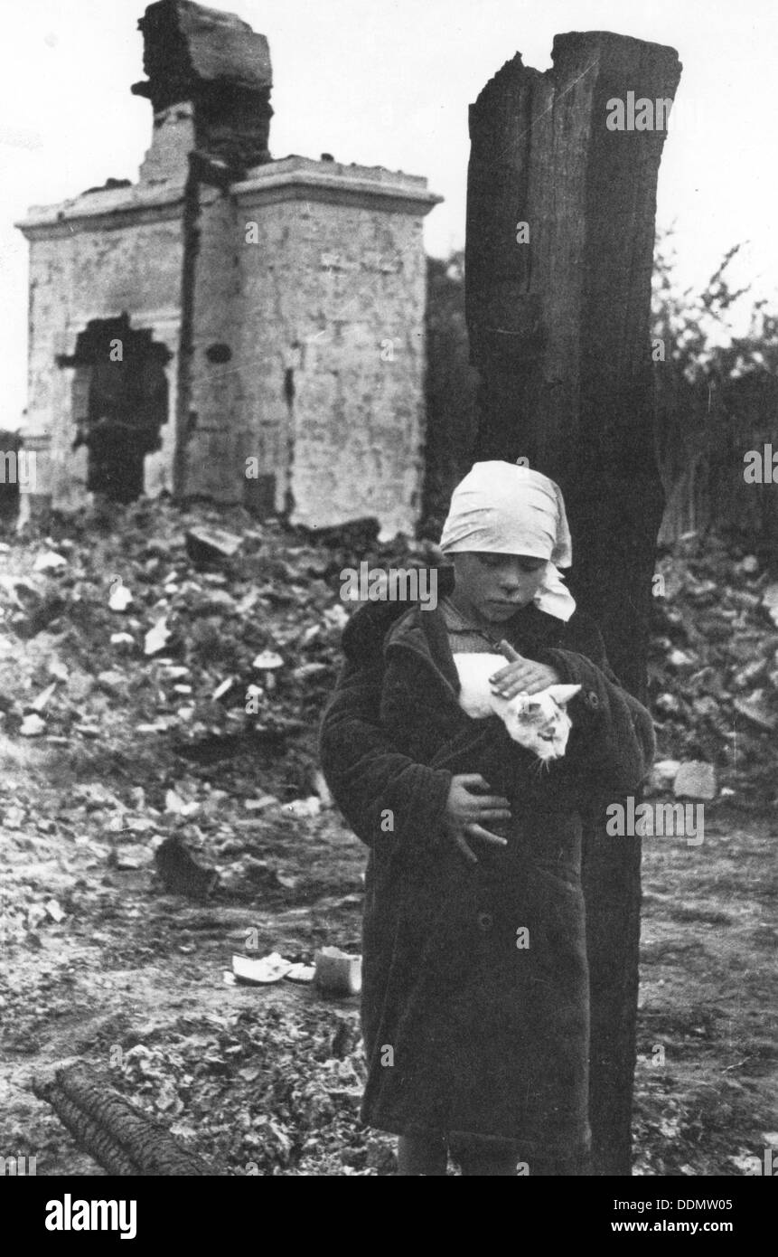 Russia after the Germans had gone, World War II, c1944. - Stock Image