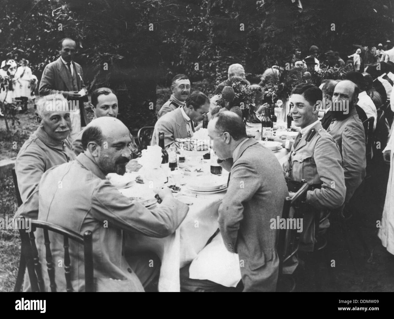 Chaim Weizmann and Lord Montagu of the Zionist Commission, 1917. - Stock Image