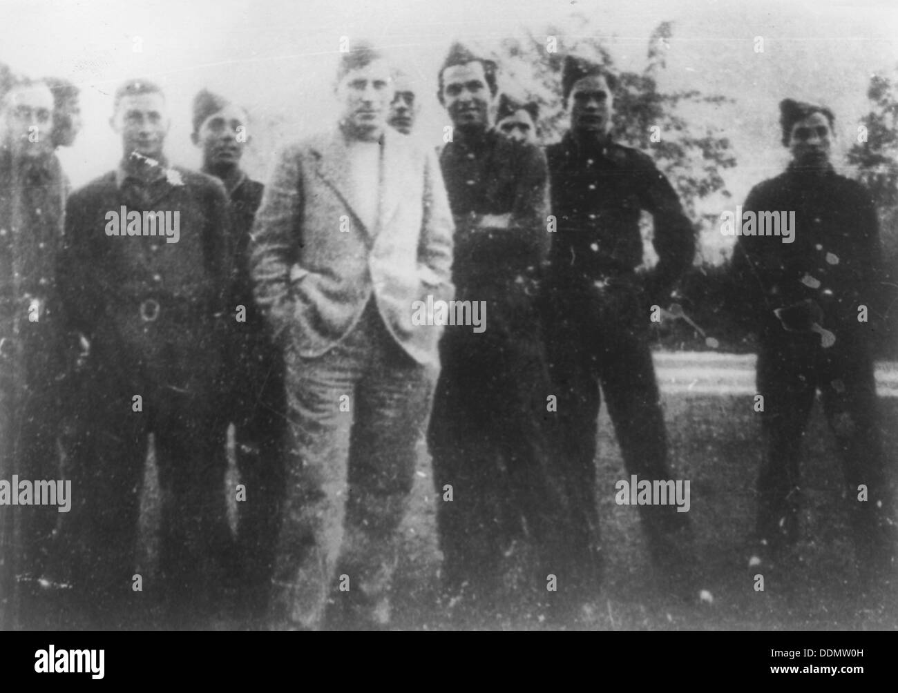 Brigadier General Orde Wingate and the Special Night Squads, Palestine, late 1930s. - Stock Image