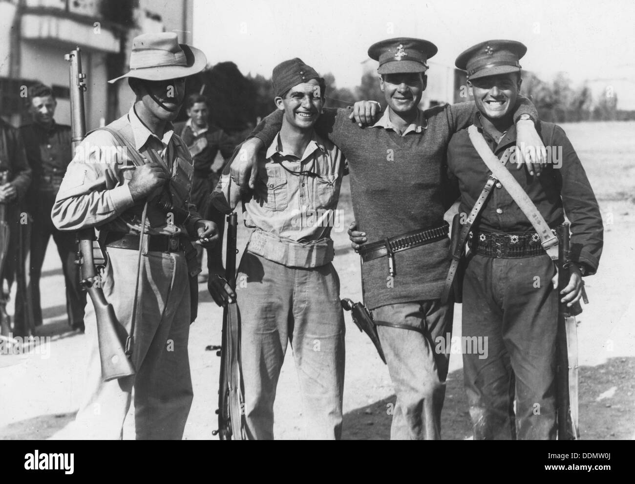 Members of the Special Night Squads in British Army uniform, Palestine, c1938-1939. - Stock Image