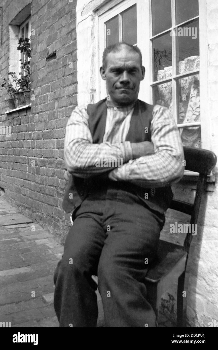 Jack Barnard, Bridgwater, Somerset, 1906-1909. Artist: Cecil Sharp - Stock Image