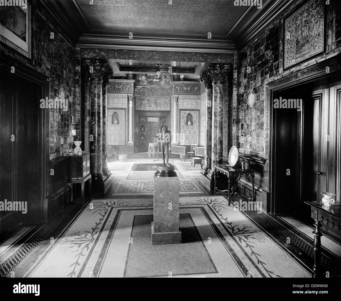 The Interior Of A House In Holland Park Road, London, 1895. Artist: Bedford  Lemere And Company