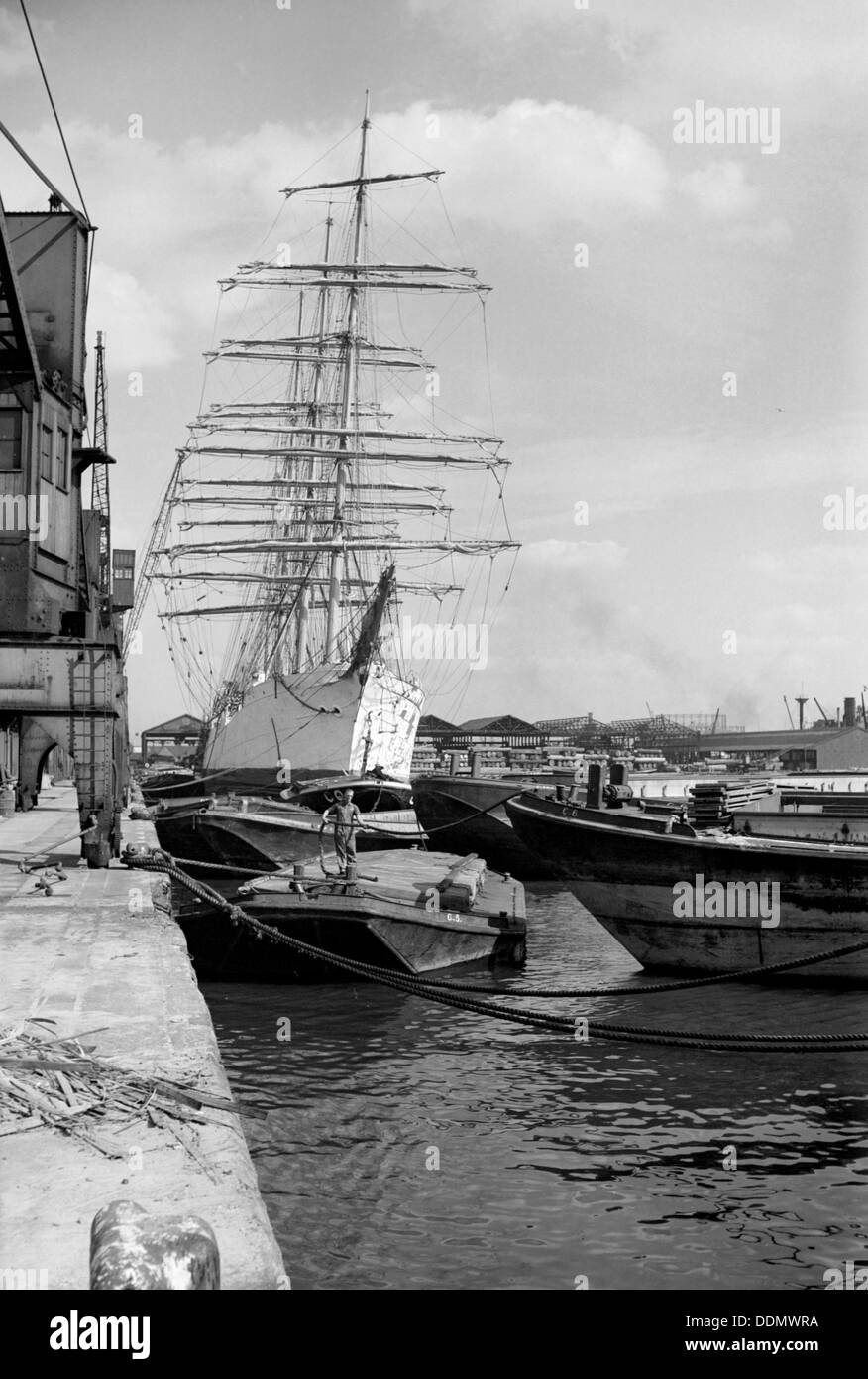 `Viking' barque at the West India Dock, Isle of Dogs, London, c1945-c1965. Artist: SW Rawlings - Stock Image