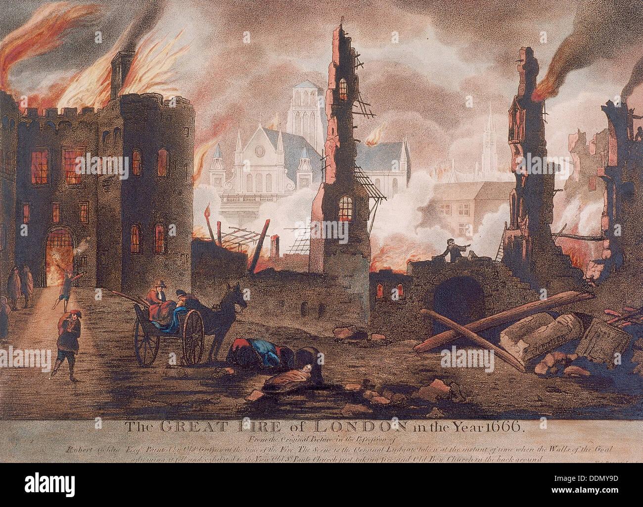 Ludgate great fire of london london 1792 artist william birch