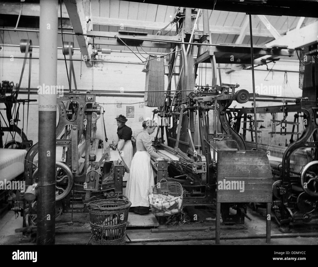 Early's Blanket Factory, Witney, Oxfordshire, 1897. Artist: Henry Taunt - Stock Image