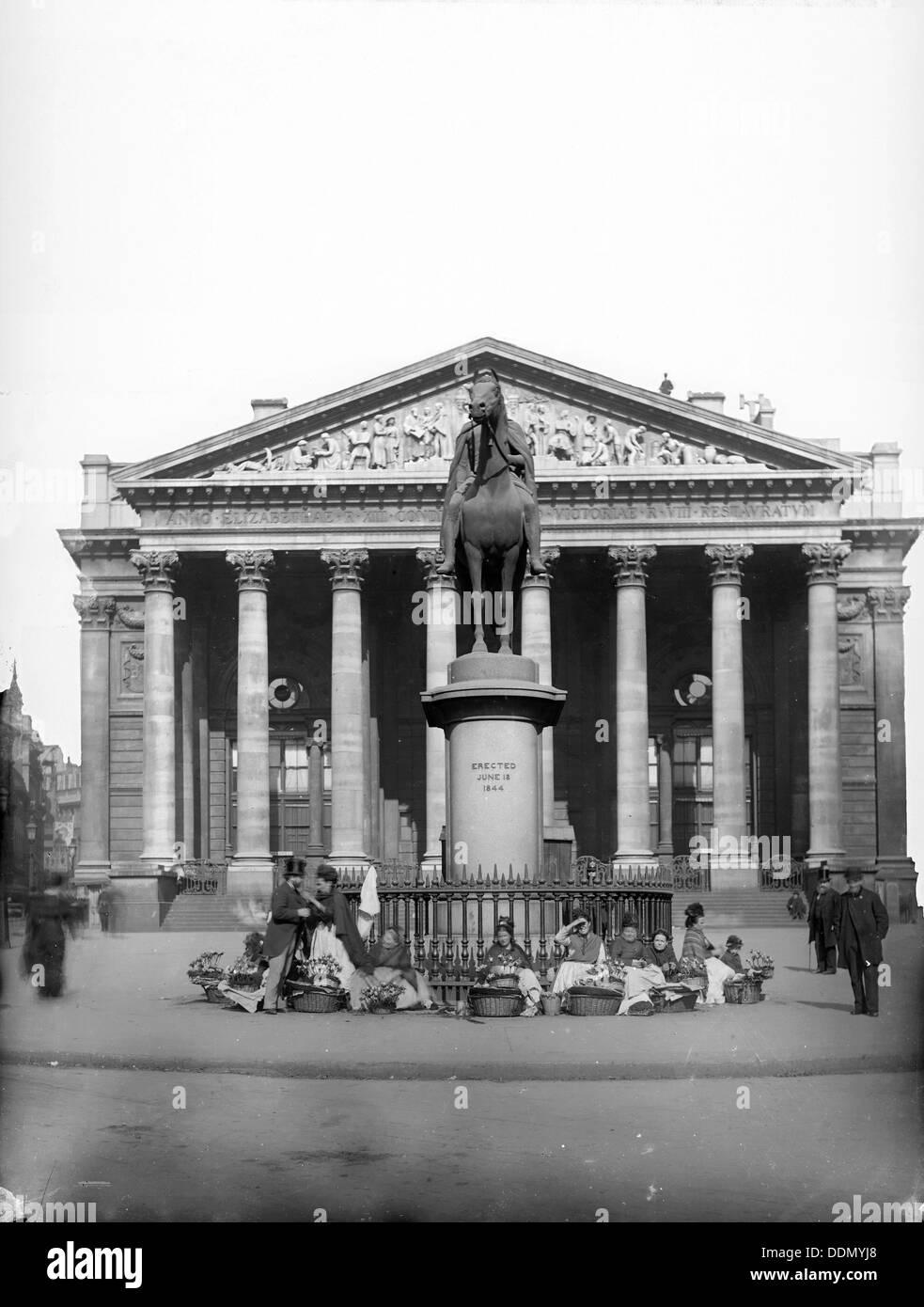 The Royal Exchange, Threadneedle Street, London, c1870-c1900. Artist: York & Son - Stock Image