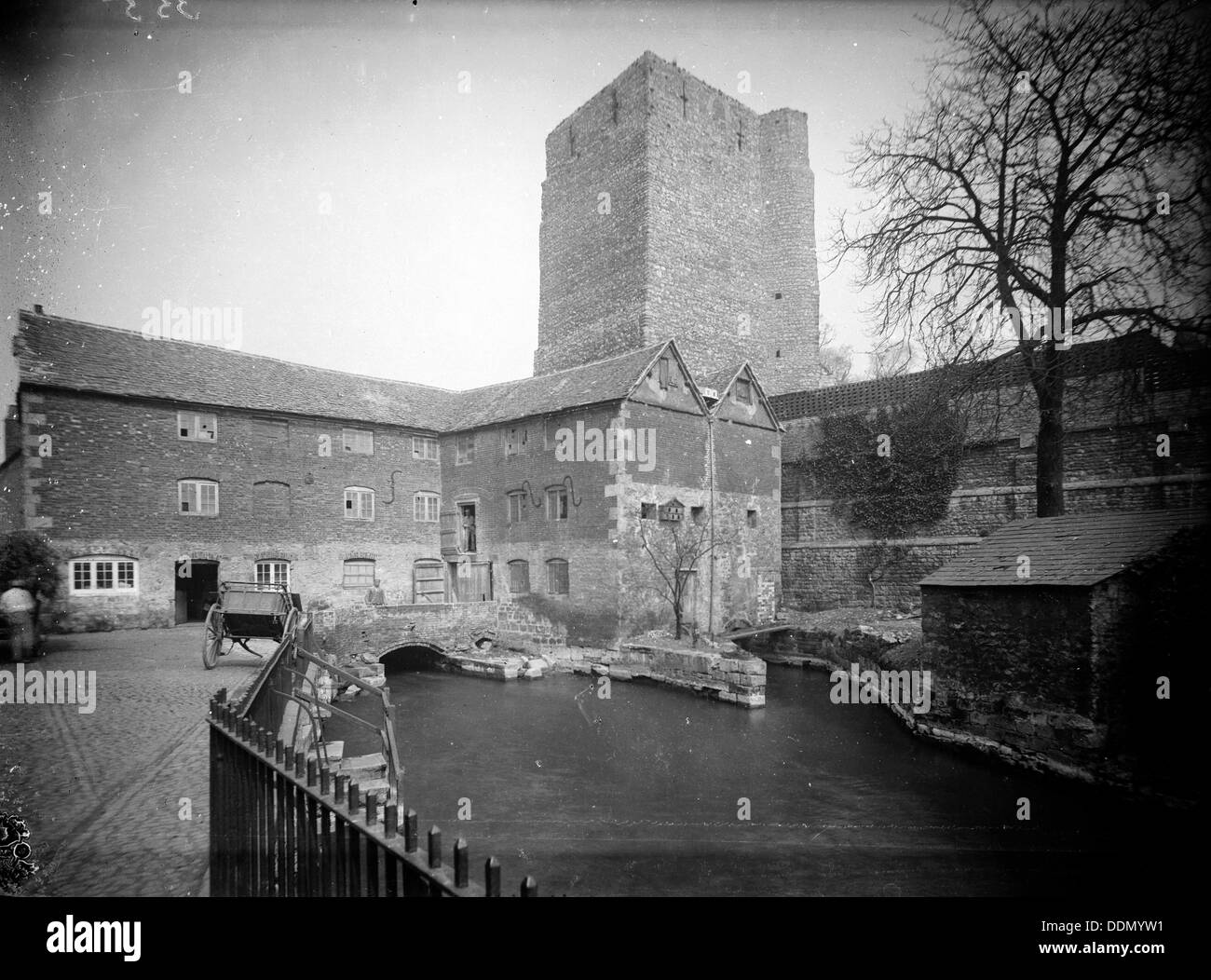 Oxford Castle, Oxford, Oxfordshire, c1860-c1922. Artist: Henry Taunt Stock Photo