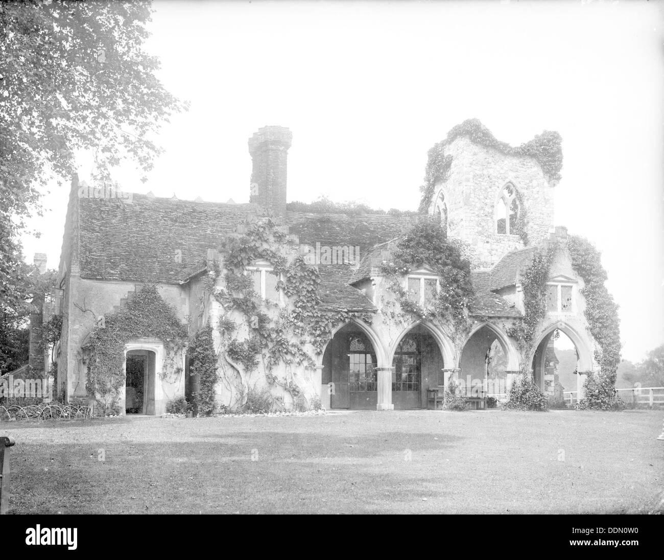 Medmenham Abbey, Medmenham, Buckinghamshire, 1883. Artist: Henry Taunt Stock Photo